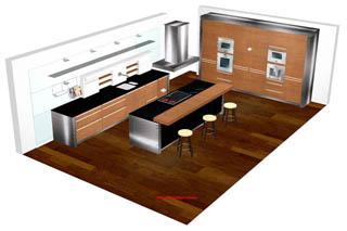 Küchenplanung | Badplanung | Sanitärplanung | 3D CAD Grafik Daten | {Küchenplanung 68}